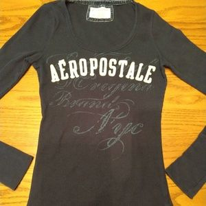 Aeropostale Shirt - Size Medium (Junior) - Blue